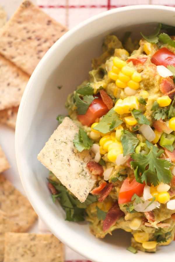 Chipotle BLT Dip with Fresh Corn | reluctantentertainer.com