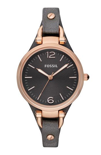 Free shipping and returns on Fossil 'Georgia' Leather Strap Watch, 32mm at Nordstrom.com. Multi-textured dial warms a modern, industrial watch case that's buckled to a soft leather strap for a cool finish.
