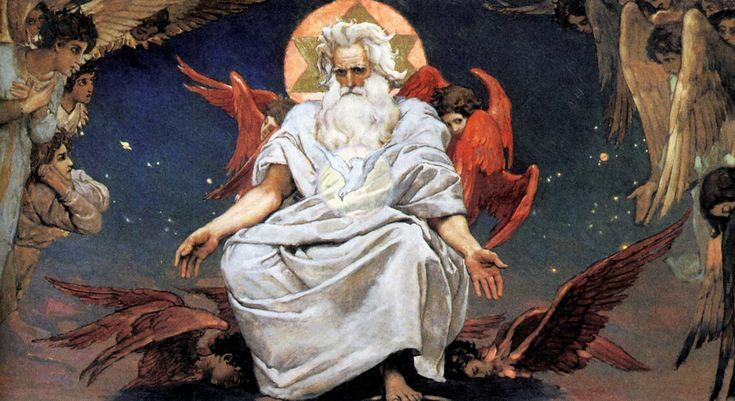 "Васнецов Виктор Михайлович (Viktor Mikhailovich Vasnetsov)  ""Бог Саваоф"""