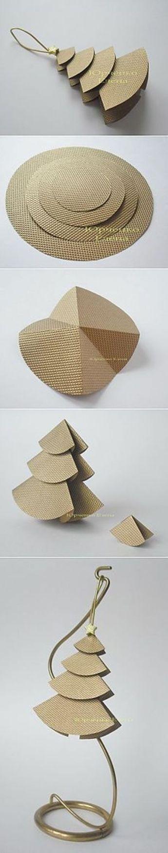 31 einfache handgemachte DIY Papier Weihnachtsschmuck