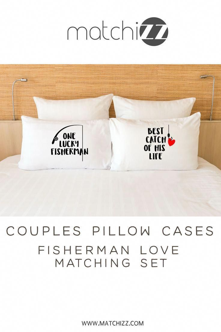 Fishing Couple Matching Pillowcases Gift For Fisherman And Wife