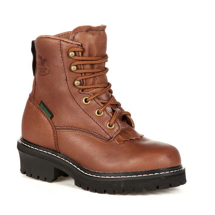 Georgia Boot Kids Waterproof Logger Boots, Kids Unisex, Size: 10.5T, Brown