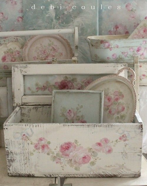 debi coules shabby french chic art this site has a lot of painted and distressed