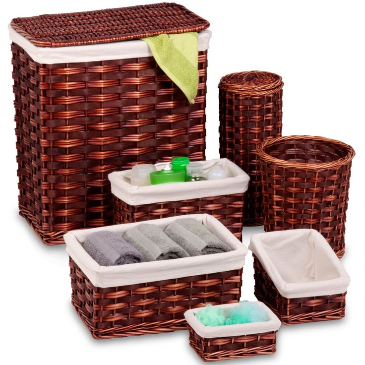 High Quality The Honey Brown Storage Basket Set Offers Seven Baskets In Various Sizes So  You Can Add