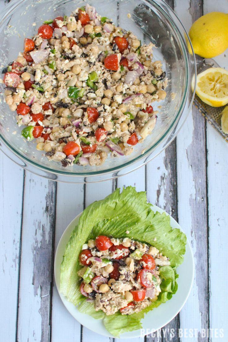 Mediterranean Tuna Lettuce Wraps | Recipe | Wraps, Tuna and Tuna ...