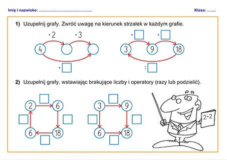 Znalezione obrazy dla zapytania matematyka klasa 4 ćwiczenia do druku