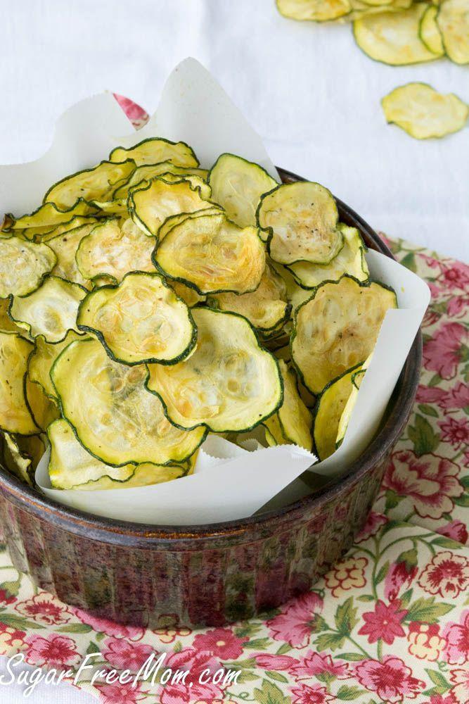 salt and vinegar zucchini chips- sugarfreemom.com