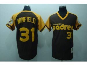 MLB San Diego Padres #31 Dave Winfield 1978 Throwback Brown Jersey