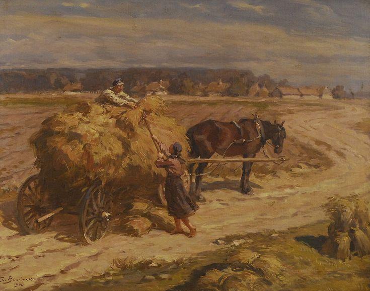 Żniwa, 1940 Stanisław BAGIEŃSKI - Aukcja 143 Dzieła Sztuki Antyki DESA Kraków - 19