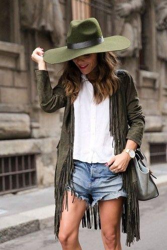 green fringe jacket