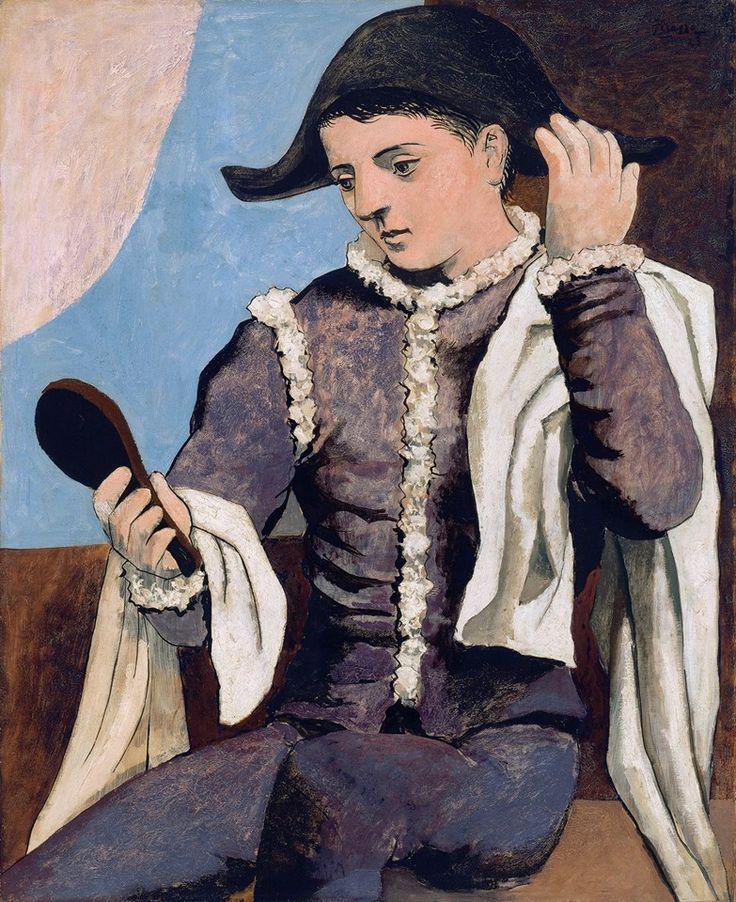 Pablo Picasso Arlequín con espejo, 1923