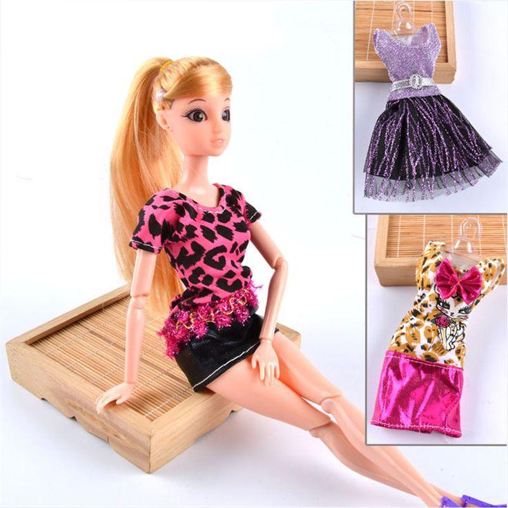 C$ 1.30 Pas cher BBGUN001 Free Shipping Leopard BJD Doll Clothes Top Fashion…
