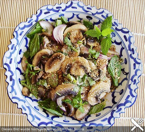 Pilzsalat - Yam Het, ein leckeres Rezept aus der Kategorie Pilze