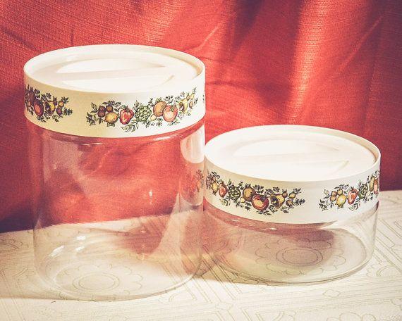 Pyrex Storage Jars 1960s Vintage Spice of Life | Vintage Kitchen | Vintage Decor | Vintage Pyrex | 1960s | 60s | Kitchen Storage | Organization | Vintage Style | Retro | Nostalgic | Vintage Home |  Mad Men | Midcentury | Midcentury Modern