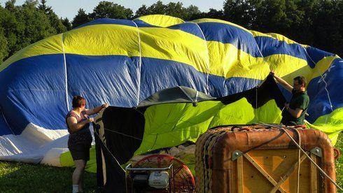 příprava balónu
