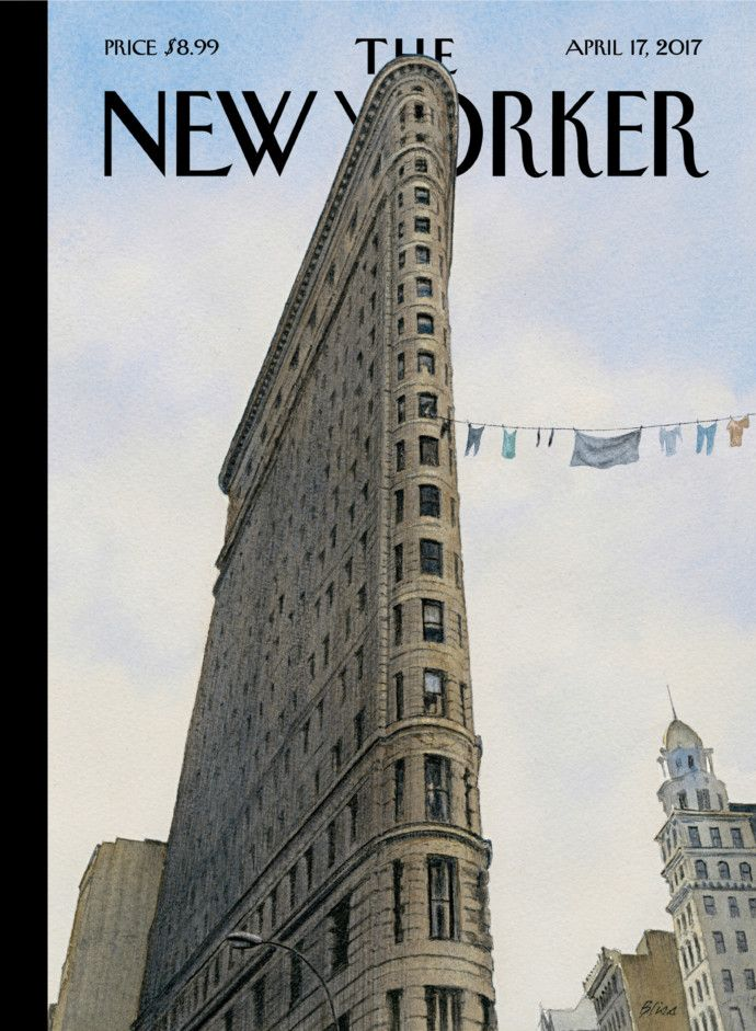 "Harry Bliss's ""Fashion District"" - The New Yorker, April 17, 2017"