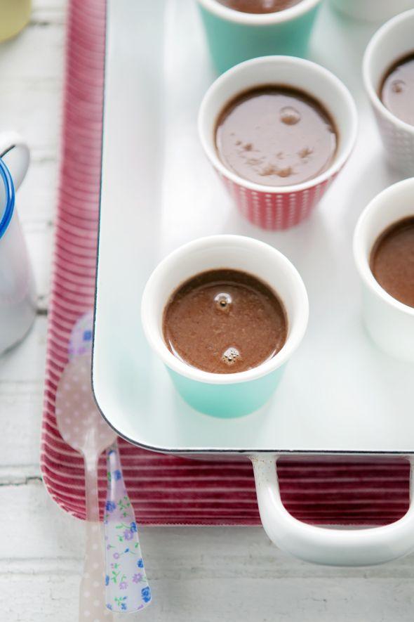 chocolate, hazelnut and fleur de sel pots de crème