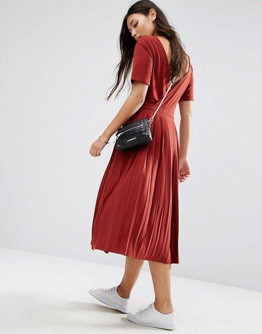 ASOS | ASOS Pleated Midi Dress