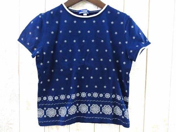 【バーバリーブルーレーベル】花柄 半袖Tシャツ【レディース】サイズM/ブルー☆A61【中古】130421【楽天市場】