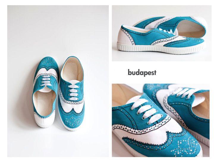 Handbemalte Schuhe im Budapester-Stil // handpainted shoes, budapest style by NOS · NO ORDINARY STUFF via DaWanda.com