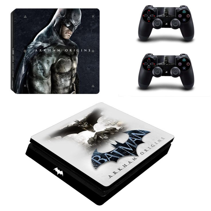 Batman Arkham Origins ps4 slim edition skin decal for console and 2 controllers