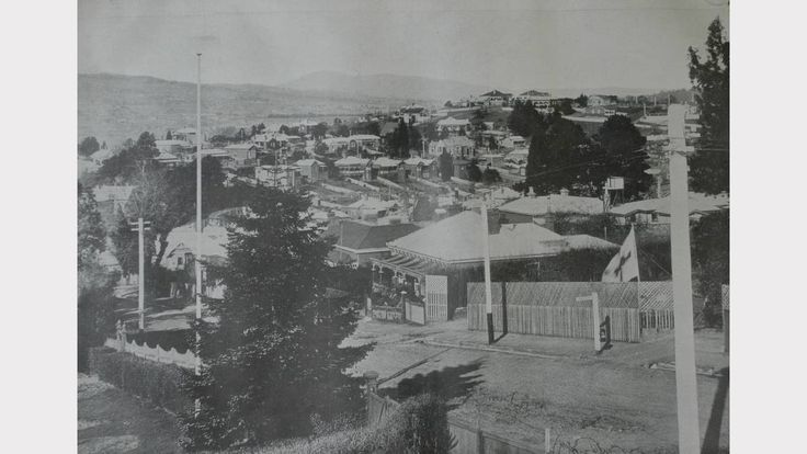 A section of East Launceston seen from Adelaide St in 1919.