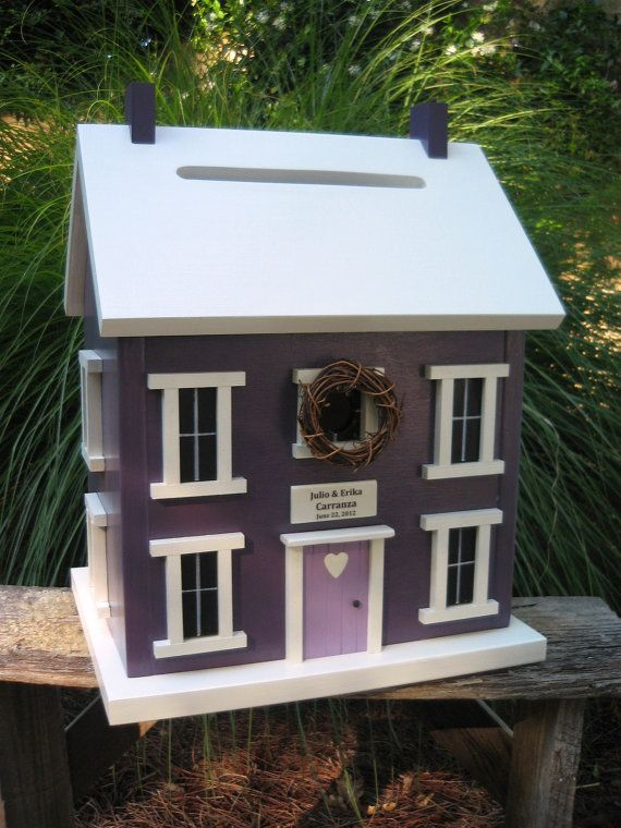 Wedding Reception Money Card Box Birdhouse by CleggFarmCreations, $159.00