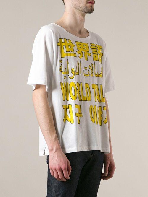 Men - Études 'Powder World Talk' T-Shirt - WOK STORE