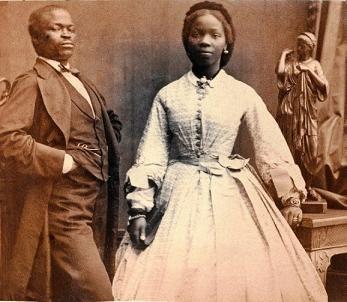 Sarah Forbes Bonetta and her husband, Captain James Davies.