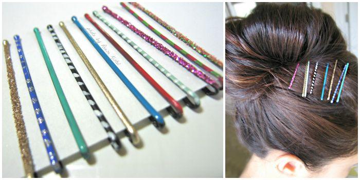 DIY painted bobby hair pins