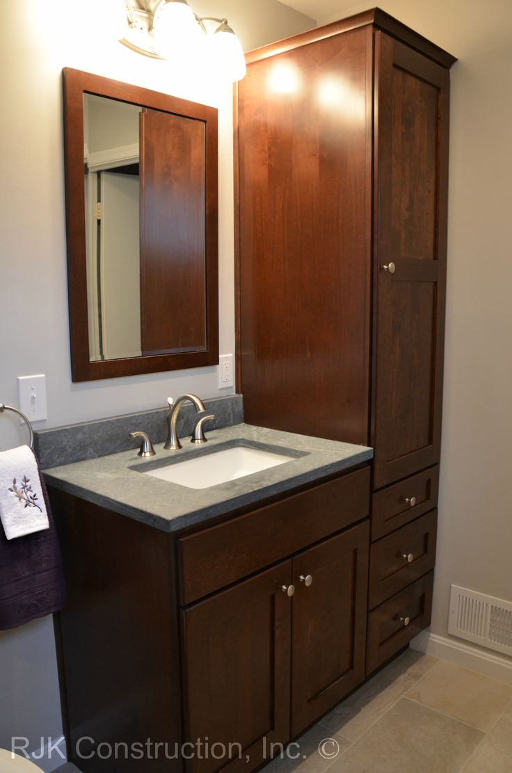 36 Bathroom Vanity Gray: 36 Inch Bathroom Vanity With Tall Side Cabinet