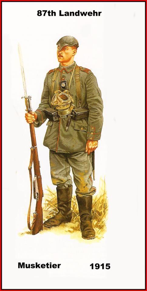 DEUTSCHES HEER - 187th Landwehr- Musketier - 1915 ...