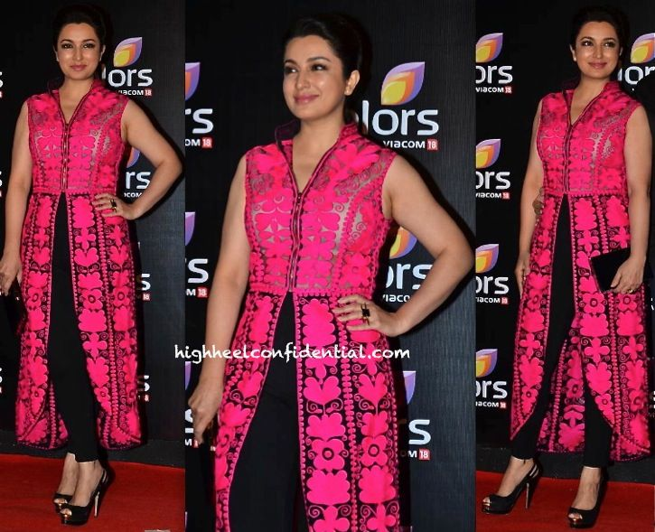 Tisca Chopra In Pankaj And Nidhi At Colors TV Party