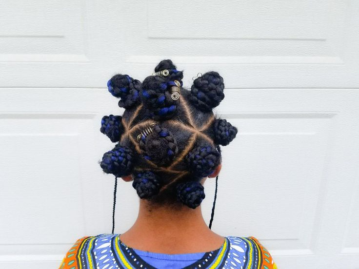Braided Bantu Knots