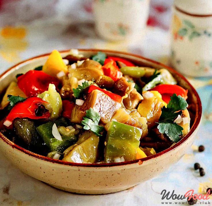 Салат из печеных овощей по армянски