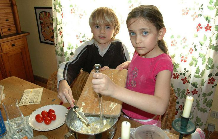 Paris & Prince in kitchen-I usually don't put pictures of MJ's kids on my board but loved this one too much to not put it on :)