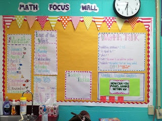 Life in First Grade: I need a math focus wall! If only I had one more bulletin board...