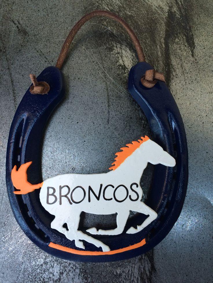 Denver Broncos,Horseshoe,AFC Championship,horses,Broncos,football,broncos t-shirt,football broncos,nfl denver broncos,superbowl,glasses by AmericanCraftsman10 on Etsy