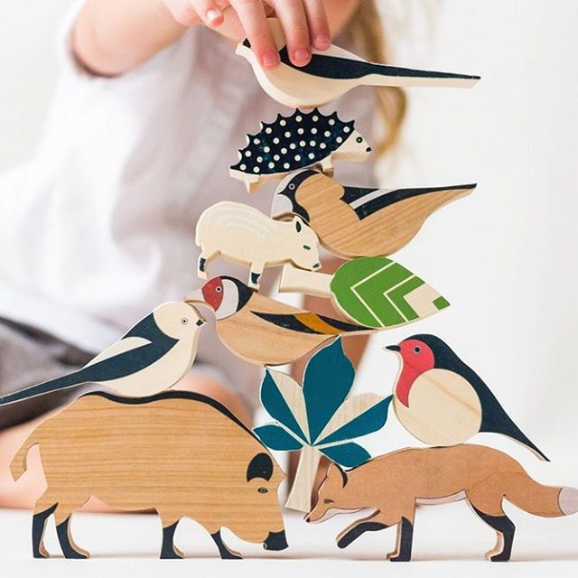 Cute pyramid of wooden toys #woodentoys