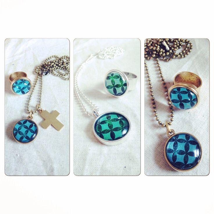 Pacifica tapa design jewellery by bellbirddesigns.com