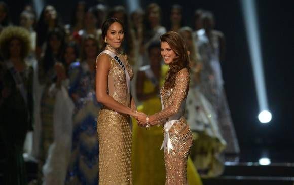 Miss Haití y Miss Francia fueron las finalistas de Miss Universo 2016. FOTO AFP
