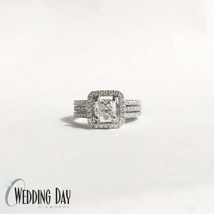 Wedding Set From Simon G The Wedding Band Fits Inside The Engagement Ring