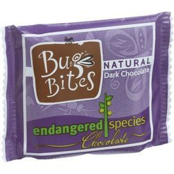 Endangered Species Natural Chocolate Bug Bites Dark Chocolate 72 Percent Cocoa .35 oz Case of 64