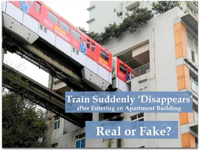 Real o Fake? The Mono Rail Passes through an Apartment building in The Mountain City of China. Check out the  Full details