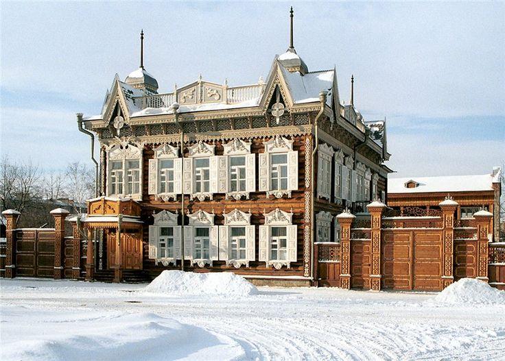 A house in Irkutsk, Siberia.