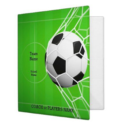 Personalized Team Name Soccer Ball 1.5-Inch 3 Ring Binder - monogram gifts unique design style monogrammed diy cyo customize