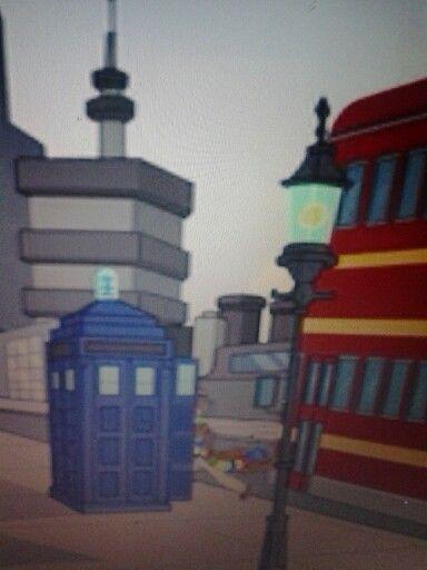 Futurama, Season 8 Episode 10, the 4th doctor and his tardis