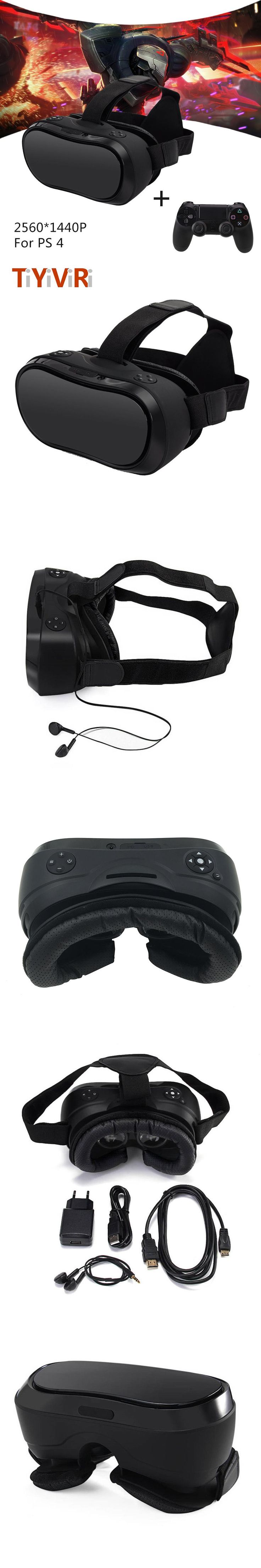 VR 3D Headset for PS 4 Xbox 360 Host PC 2560*1440 RK 3288 Virtual Reality Goggles All In One VR With Wired Controllers for PS 4