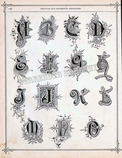 Alphabet a to o victorian calligraphy flickr