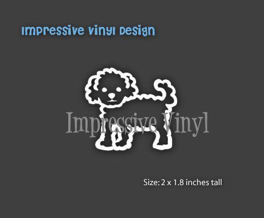 Stick Family Custom Vinyl Maltipoo Dog by impressivevinyldsign